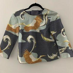 H&M Stork Pattern Shirt